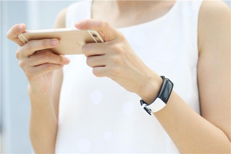 Смарт браслет uniqboom мужской с цветным экраном пульсометром