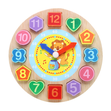 Cartoon Wooden Clock Figure Toys