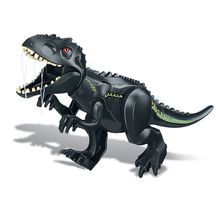 10PCS/LOT Jurassic World 2 Dinosaur Black tyrannosaurus rex  Building Blocks Dinosaur Action Figure Bricks Toys Gift 79151 77001 jurassic world 2 dinosaur tyrannosaurus building blocks dinosaur action figure bricks legoings dinosaur toys gift