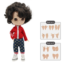 Hair-Articulation Hand-Set No.950-Joint-Doll Body Male High AB 1/6 Short 30cm Including
