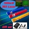 [ReadStar] RedStar Красный 303 высокой 1 Вт Лазерная указка лазерная ручка сжечь спичку звезда pattern cap 4 цвет Подарочный набор включает аккумулятор и зарядное устройство