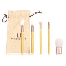 Фотография UNIQUE COLORS 5pcs makeup cosmetic brush set natural bamboo brush set
