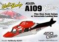Fuselagem De Fibra De Vidro pré-Pintada 450 tamanho A109 UM-109 com o Sistema de Retração Da Guarda Costeira para ALIGN T-REX 450 Helicóptero série