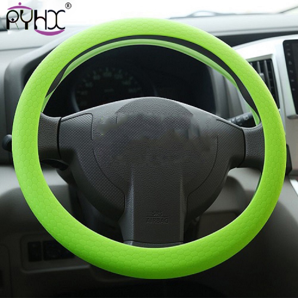 2019 cheap Car Auto Silicone Steering Wheel Glove Cover Soft Auto Steering Covers Accessories Universal