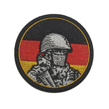 German Soldier Tactical Morale Patch German Punisher Military Combat Badge Embroidered Clothing Patch For Jackets Jeans Backpack(China)