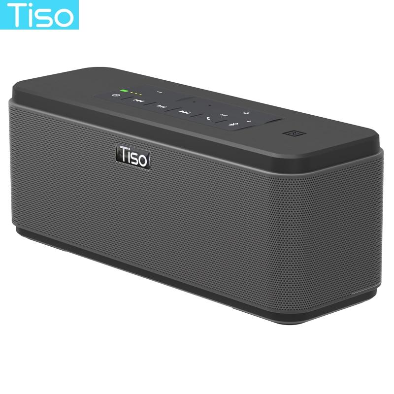 Tiso T12 30 w haut-parleurs sortie 2.2 canaux sans fil Bluetooth V4.2 haut-parleurs NFC AUX puissance banque de son domicile subwoofer système