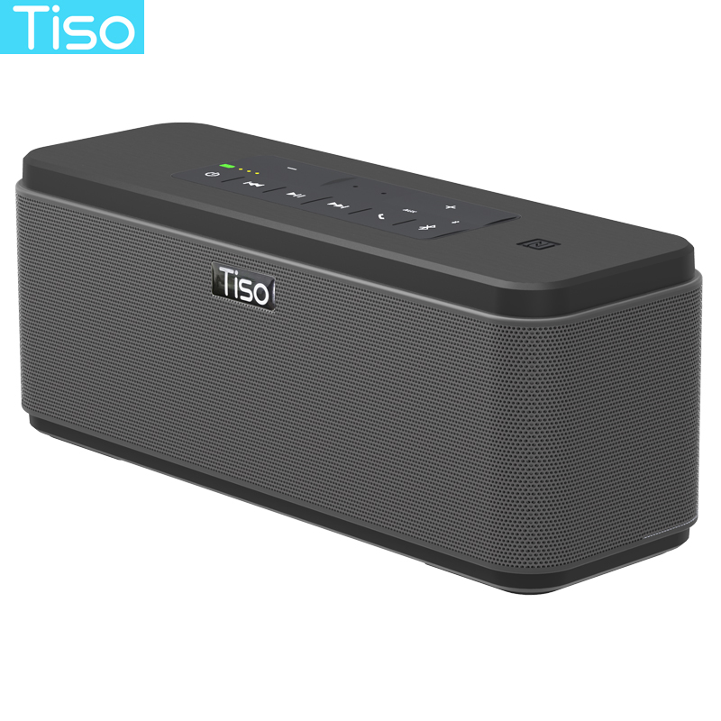Tiso T12 30W loudspeakers output 2.2 channels wireless Bluetooth V4.2 speakers NFC AUX power bank home sound subwoofer system