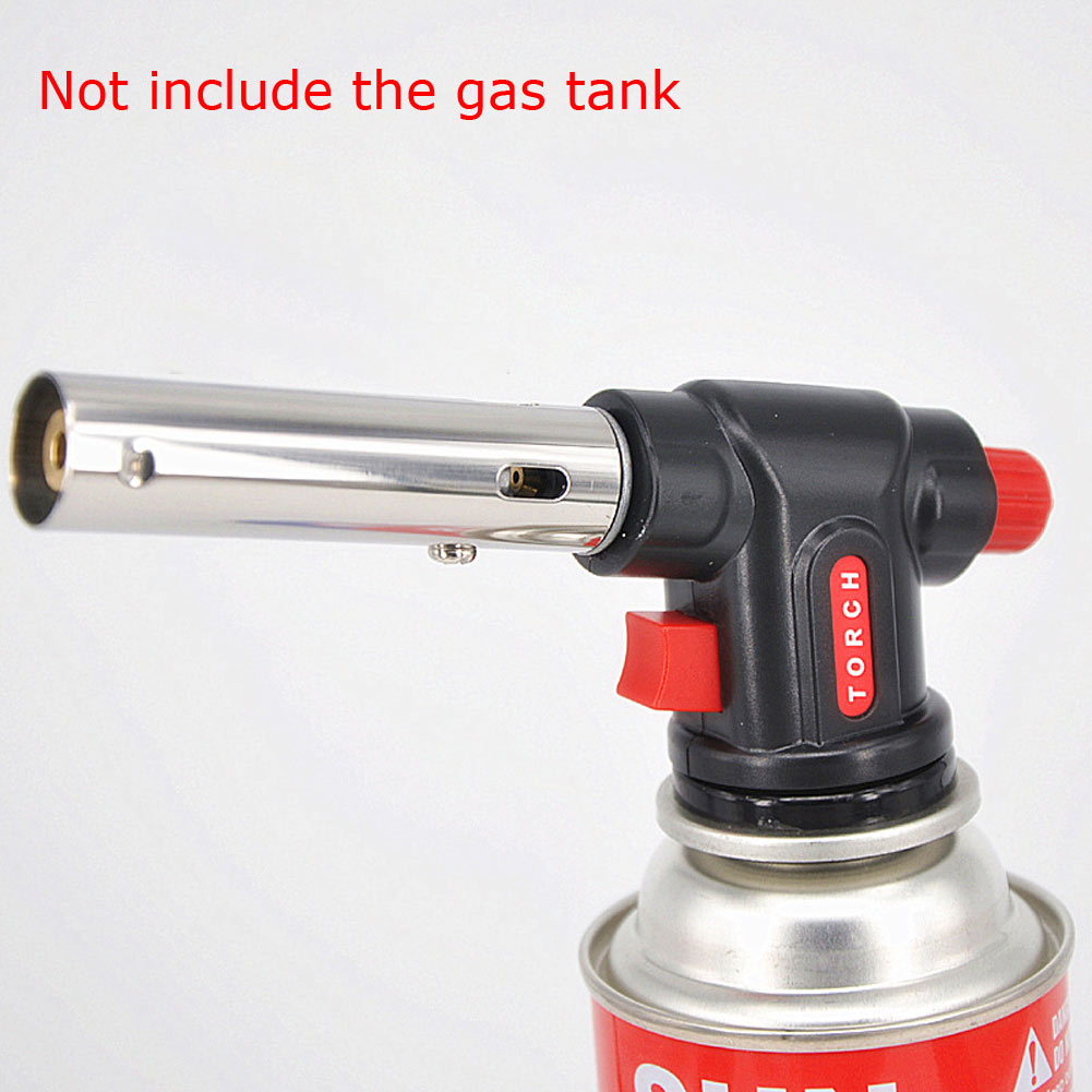 Multifunction Auto Ignition Welding Flamethrower Gas Torch Butane Burner For Camping BBQ Barbecue Carbon Lighter multi function adjustable auto ignition gas butane brazing torch black red 1300 c