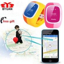Regalo de los cabritos Reloj Del Teléfono Inteligente GPS Rastreador anti-perdida, Intercom/SOS/support tarjeta SIM Guardia Niño Reloj para iPhone IOS y Android