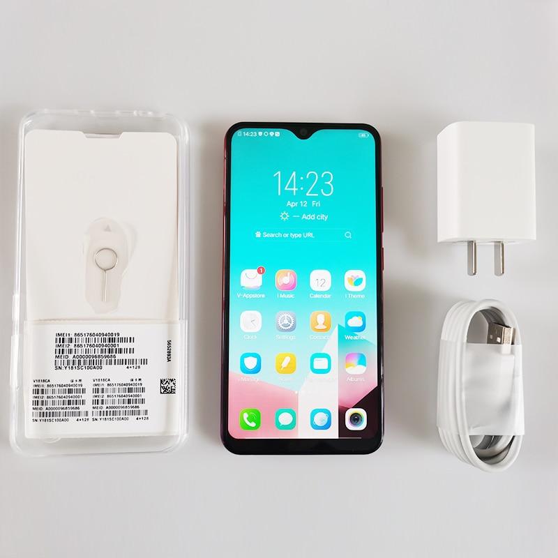 Vivo Y93s Global ROM téléphone intelligent Original 1520x720 6.2 pouces Octa Core Android MT6762 13MP + 2MP 3 caméras 4030 mAh identification de visage 1080 P