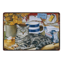 [ Kelly66 ] Cats I Love My Cat Metal Sign Tin Poster Home Decor Bar Wall Art Painting 20*30 CM Size Dy43 блюдо декоративное home philosophy 28 см i love my home 402171