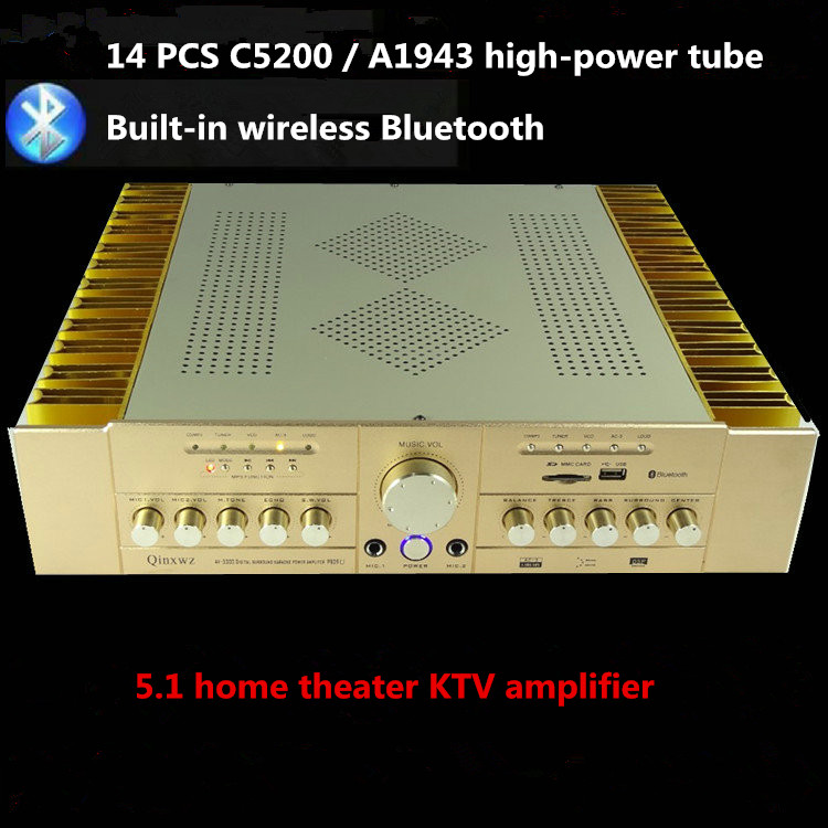 AV3300 AMP P809U 2CS5200 2SA1943 power tube 5.1 home theater KTV Karaoke Digital sound audio amplifier Support AC-3 audio input