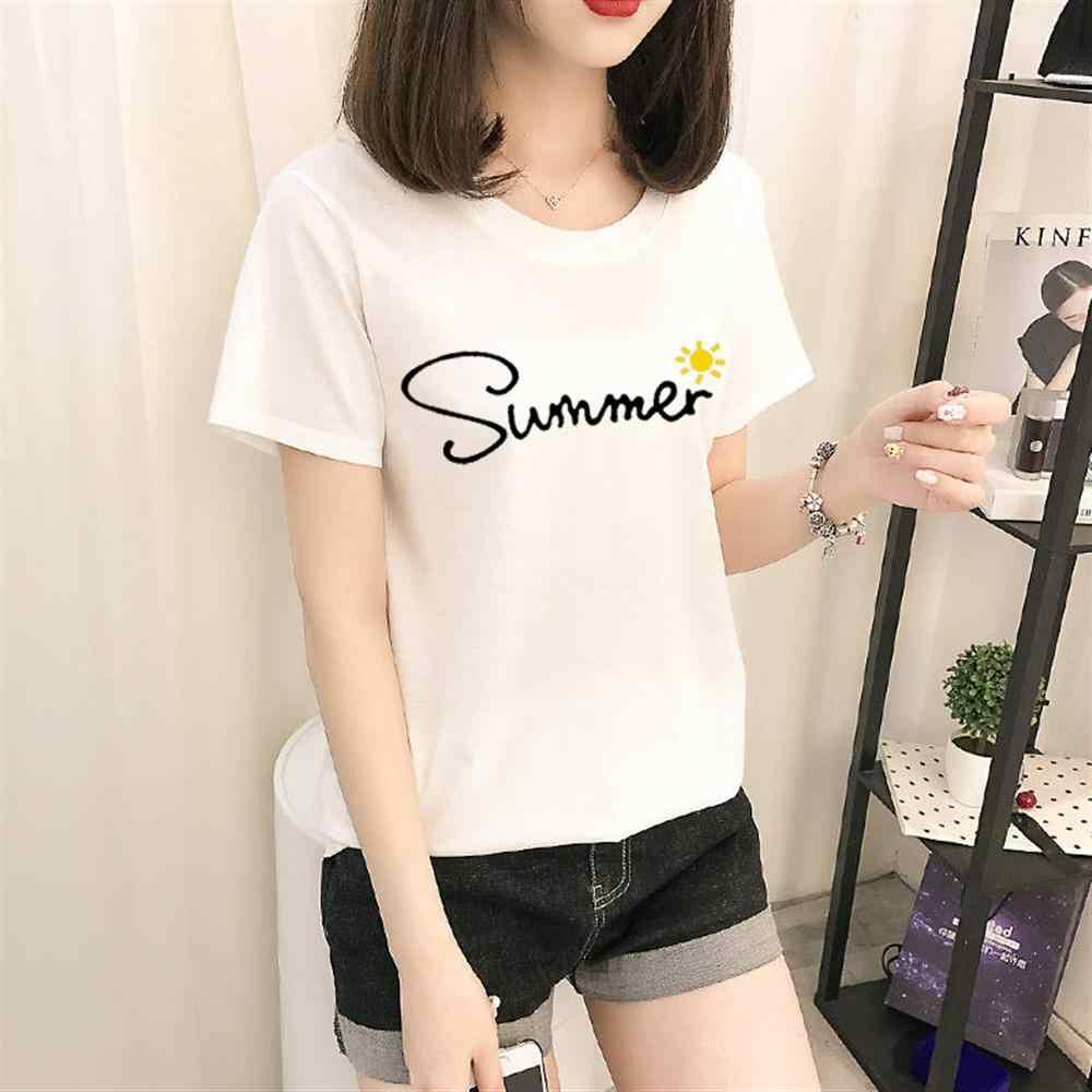 2019 Nieuwe Vrouwen T-shirts Casual Harajuku cartoon Gedrukt Tops Tee Zomer Vrouwelijke t-shirt Korte Mouw t-shirt Voor Vrouwen kleding