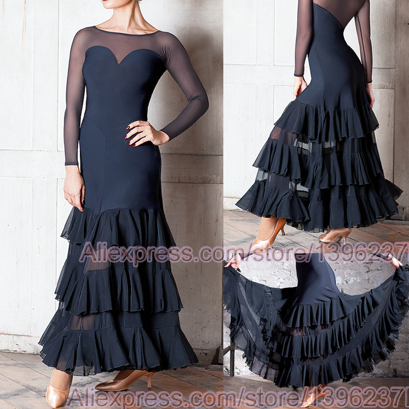 Ballroom Competition Dance Dresses Women 2019 New Design Cheap Flamenco Skirt High Quality Elegant Standard Ballroom