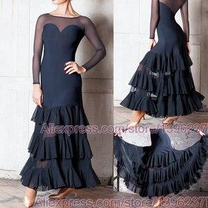 Image 1 - Vestidos de baile de competición de salón para mujer, falda de Flamenco barata, elegante, estándar, 2020