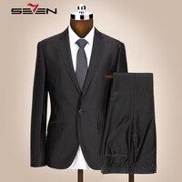 Seven7 מותג חדש Mens חליפות Slim Fit חליפת חתונה עבור חתן מכנסיים מעיל גברית חייט שתי חתיכת נשף רשמי חליפת טוקסידו 705C1216