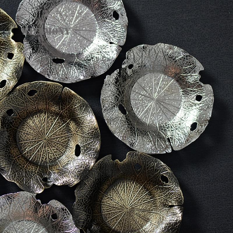 Heat Resistant Lotus Leaf Metal Cup Saucer