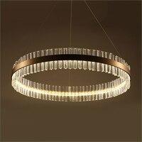 LED הפוסטמודרנית נירוסטה Crystal LED מנורת LED אור. אורות תליון. תליון מנורה. תליון אור לחדר אוכל מבואת חדר