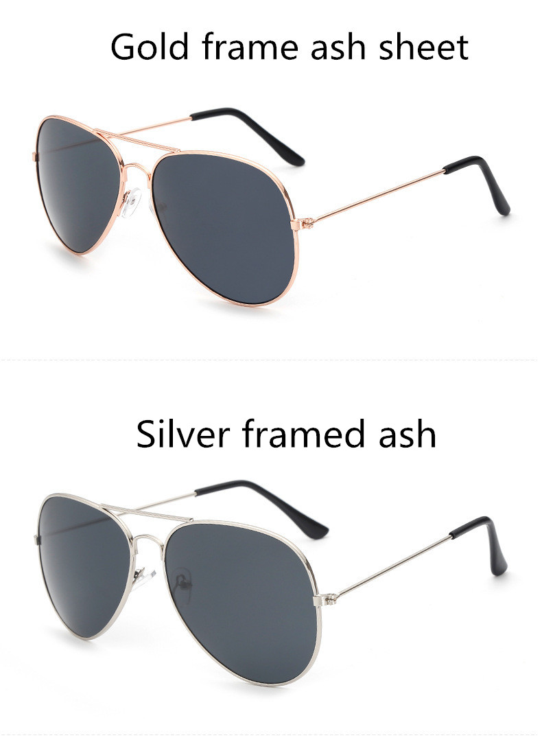 ASUOP2018 new ladies retro cat eye sunglasses luxury brand fashion men's pilot glasses UV400 night vision goggles night vision goggles (2)