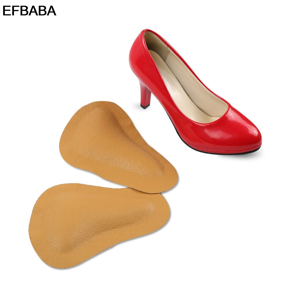 EFBABA Orthopedic Insoles Pads Leather Insole Flat Foot Arch Support No Slip High Heel Pad Shoes Inserts Accessoire Chaussure