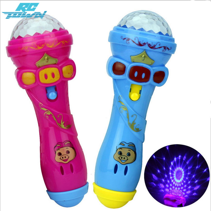 RCtown Kids Cute Pig LED Light Up Colorful Flashing Toy Children Flash Stick Microphone Starry Toys Random Color zk30