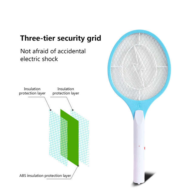 US $13 28 20% OFF|Rechargeable Electric Mosquito Swatter Zapper Racket  Insects Bug Bat Wasp Zapper Fly Mosquito Killer Mosquito Swatter 100% New  -in