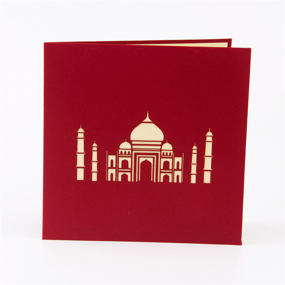 Valentines day cards business custom available vintage 3d handmade valentines day cards business custom available vintage 3d handmade taj mahal 3d pop up greeting cards 10pcs in cards invitations from home garden on magicingreecefo Gallery