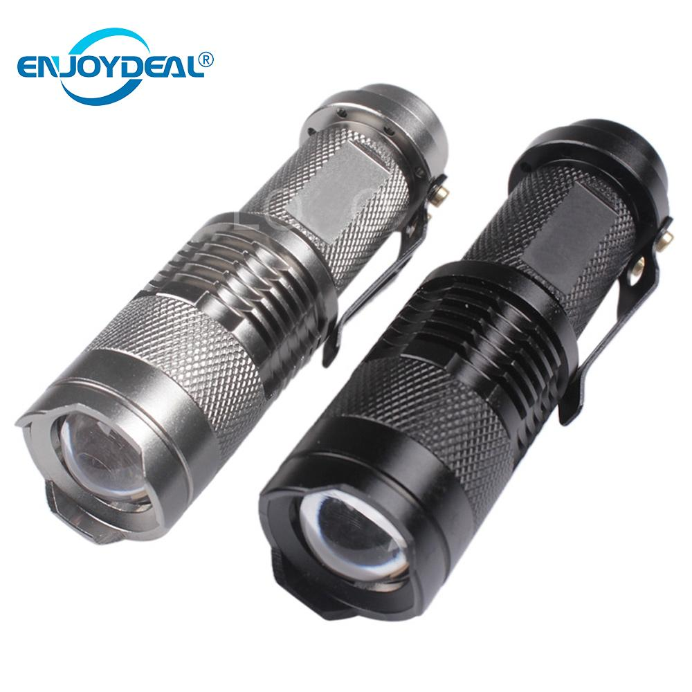 Mini Flashlight 2000 Lumens Q5 LED Flashlight Torch AA/14500 Adjustable Zoom Focus Torch Lamp Penlight Waterproof For Outdoor