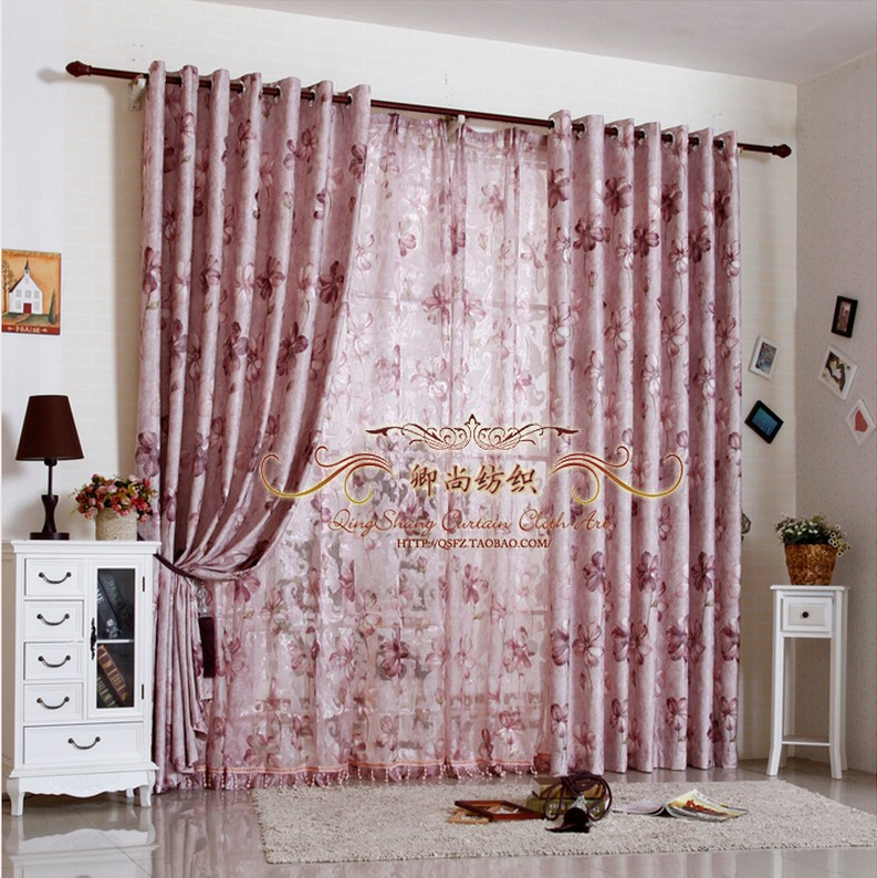 Quality jacquard window curtains for living room bedroom for Rustic curtains for living room