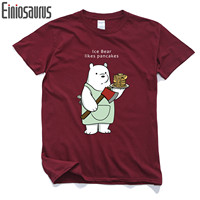 We Bare Bears Men S Short Sleeve T Shirt Pure Cotton Round Collar Anime In