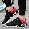 Мужчины Обувь Мода 2017 Новый Бренд Удобные Мужчины Повседневная Обувь Сетка Дышащей Обуви