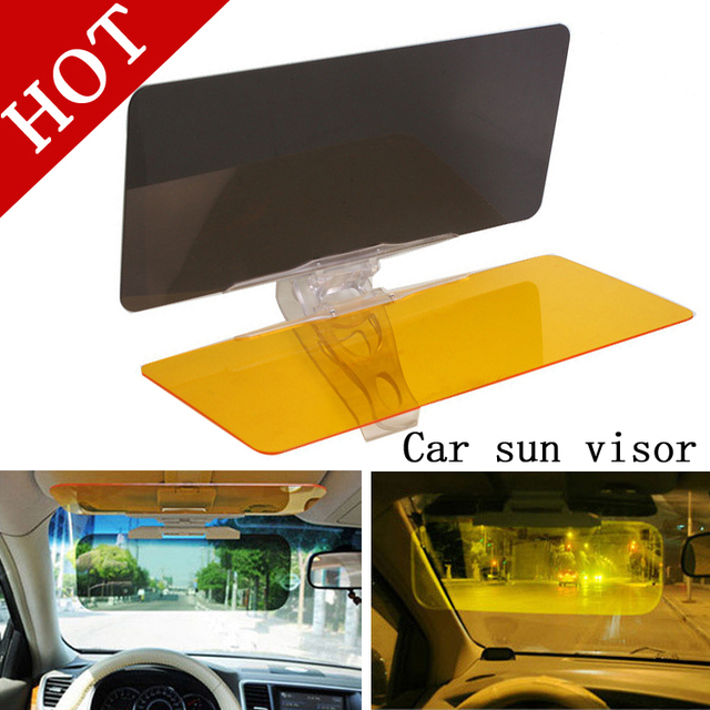 Free Shipping NEW Day and Night Visor Car Sun Visor HD Vision Visor Anti-Dazzle Mirror Clear View for Driver Auto Accessories