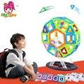 46 unids tamaño grande noria diseñador enlighten ladrillo ladrillos magnética bloques de construcción magnética juguetes para niños regalo de cumpleaños