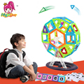46pcs Big Size Magnetic Building Blocks Ferris Wheel Brick Designer Enlighten Bricks Magnetic Toys For Children's Birthday Gift