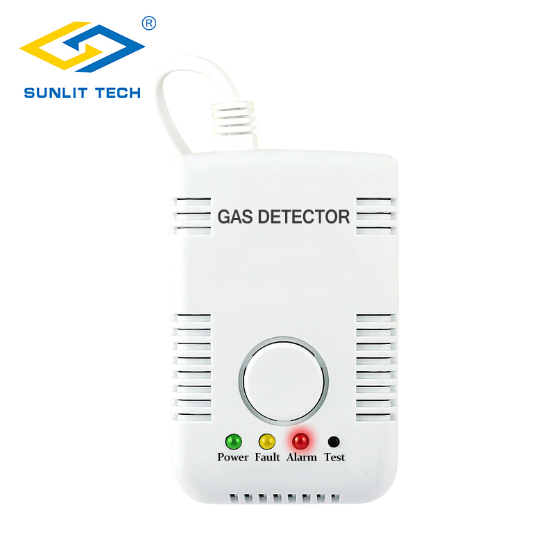 Natural Gas Detector Home Gas Leak Alarm Sensor Combustible Gas Leak Tester LPG Coal Warning For Household Kitchen Security