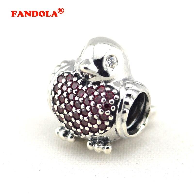 ̿̿̿(•̪ )Ajustes para Pandora Amuletos pulseras Red Robin Cuentas con ...
