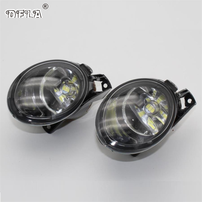 Car LED Light  For VW Passat B6 2006 2007 2008 2009 2010 2011 Car-Styling Front LED Fog Lamp Fog Light daytime running light for vw volkswagen passat b6 2007 2008 2009 2010 2011 led drl fog lamp cover driving light