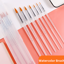 Buy 7Pcs/set Nylon Hair Watercolor Paint Brush Pointed Hook Line Pen For Oil Acrylic Painting directly from merchant!