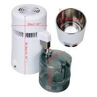 (Navio da ue) destilador de água pura filtro purificador destilador cleanest 4l clinique/casa/escritório
