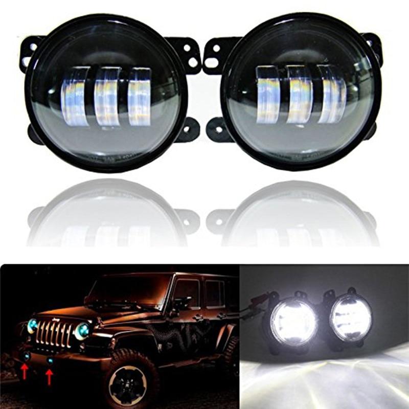 4 INCH led fog lights for 2005-2011 Chrysler 300 PT Cruiser Dodge Journey Magnum 4 LED DRL Fog Light Lamp chrysler pt cruiser 2 0 i 16v