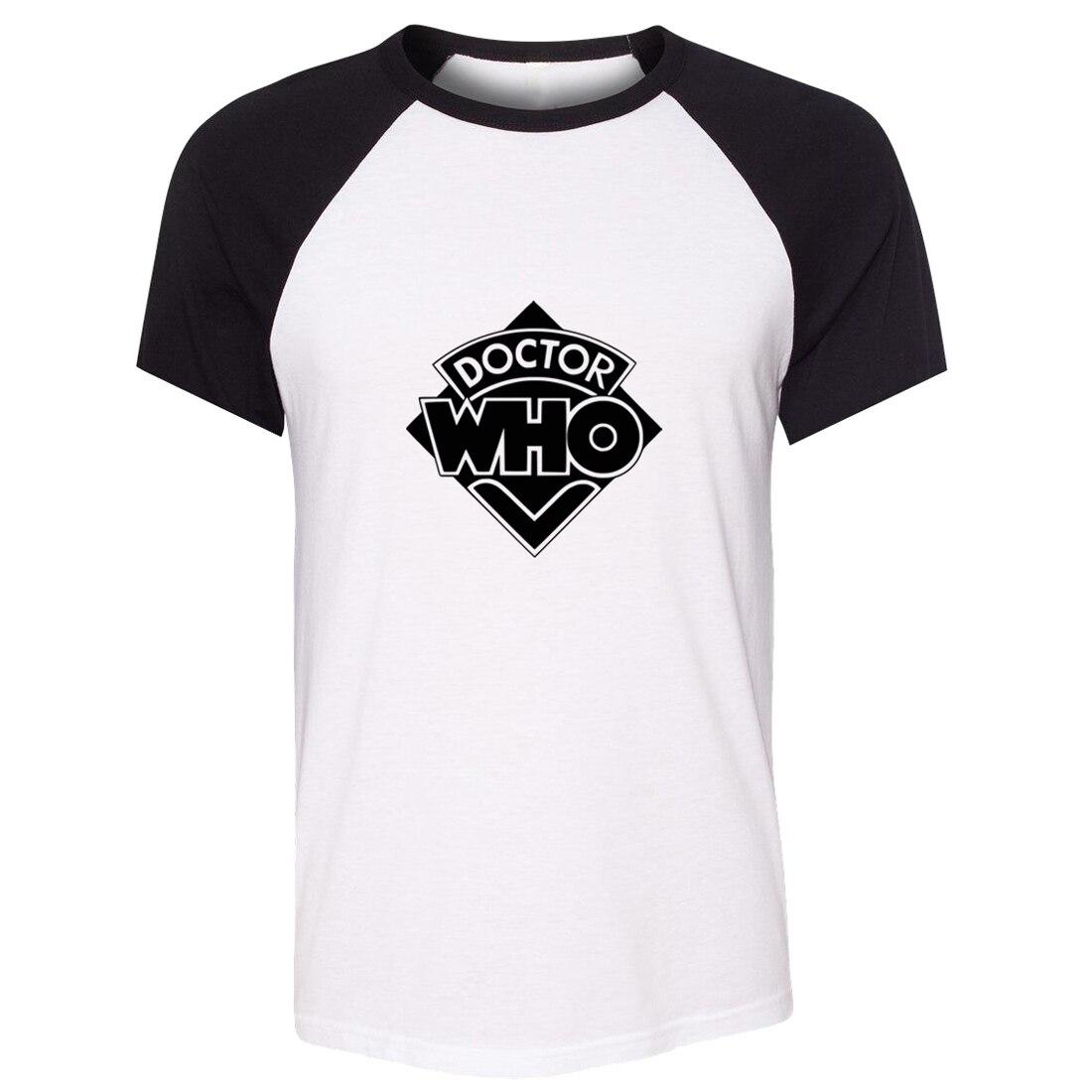 iDzn Unisex Summer Fashion T-shirt Doctor Who TV show Fans Art Pattern Design Raglan Short Sleeve Men T shirt Casual Tee Tops
