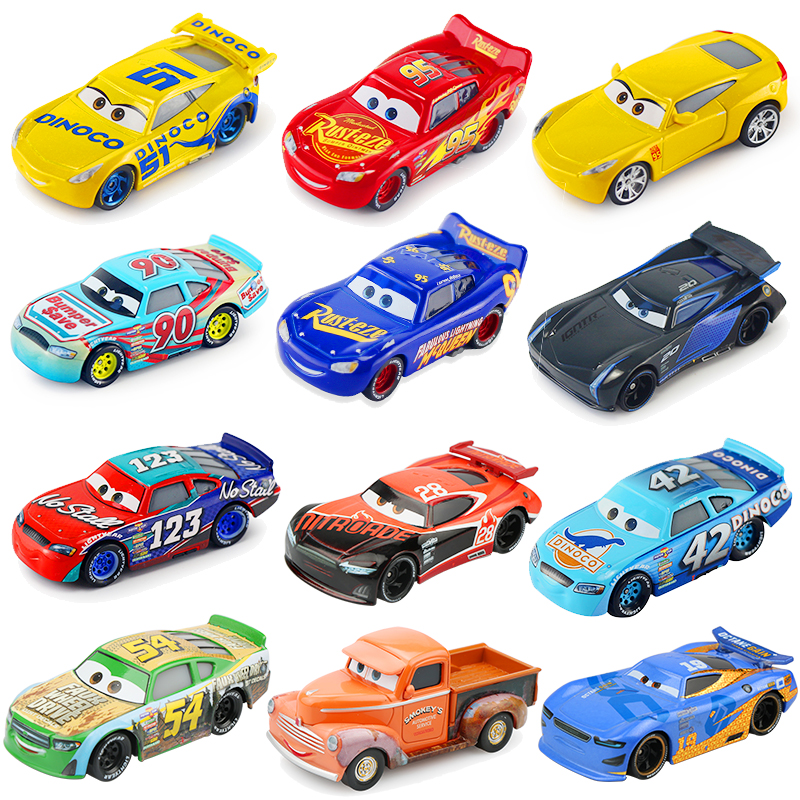 Disney Pixar Cars 3 New Lightning McQueen Jackson Storm Cruz Ramirez Diecast Alloy Car Model Children's Day Gift Toy For Kid Boy disney pixar cars 3 new lightning mcqueen jackson storm cruz ramirez diecast alloy car model children s day gift toy for kid boy