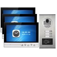 3 Hộ Gia Đình Chuông Cửa Video Interfone Hệ Thống 9