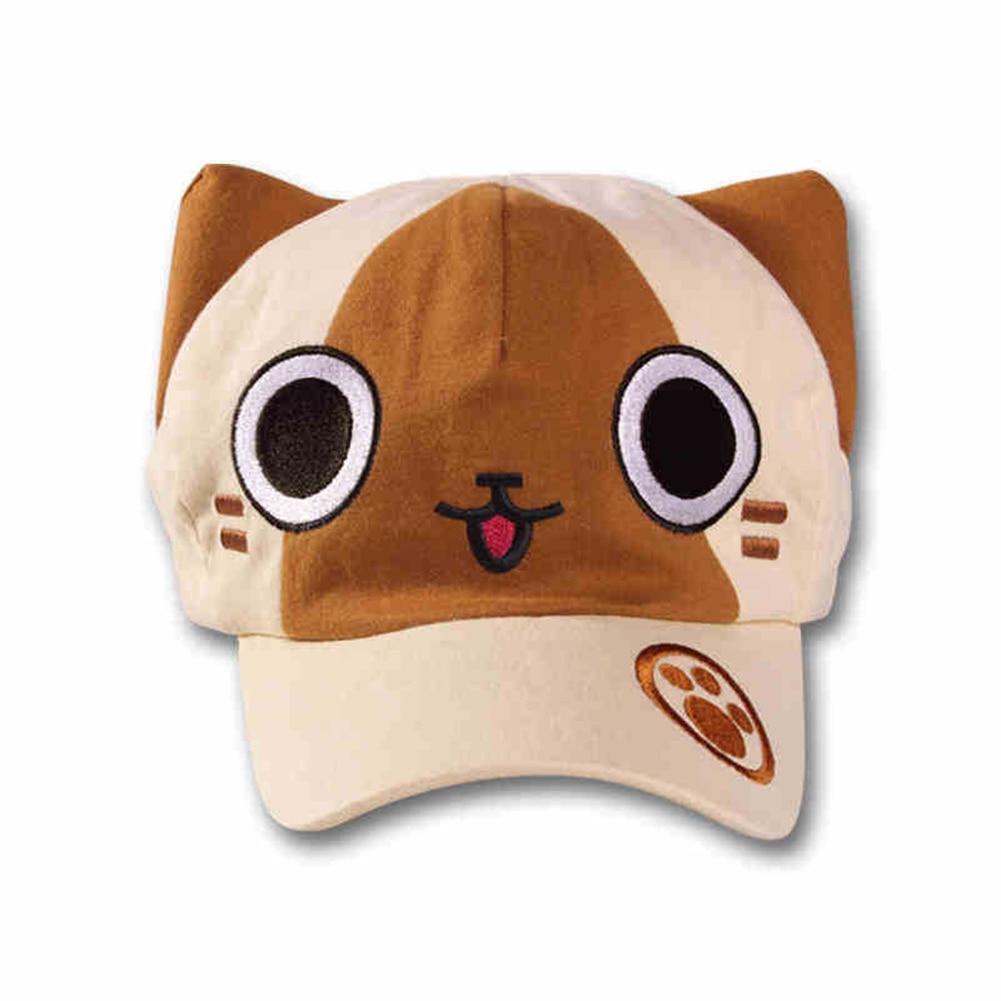 Brdwn Monster Hunter Unisex Airou Ellione Cat Cosplay Peaked Cap Baseball Sunhat