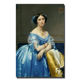 Jean Auguste Dominique Ingres Oil Paintings Prints On Canvas World Famous Painting Replica Beautiful Girl Wall Pictures Decor image
