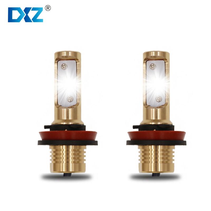 2 pcs DXZ Car Headlight H7 LED Gold Car Accessories Daytime Running Lights Automobiles lamps DRL Car Styling Headlight Bulbs