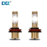 2 Pcs DXZ Car Headlight H7 LED Gold Car Accessories Daytime Running Lights Automobiles Lamps DRL