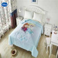 דיסני קפוא אלזה ואנה מכסה כותנה מצעי שמיכת שמיכות קיץ ילדים בנות עיצוב חדר השינה של ילד 150*200 ס