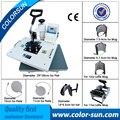 8 en 1 máquina de impresión de transferencia de calor de la sublimación para las tazas de tapas camiseta combo prensa del calor de la máquina con la certificación CE