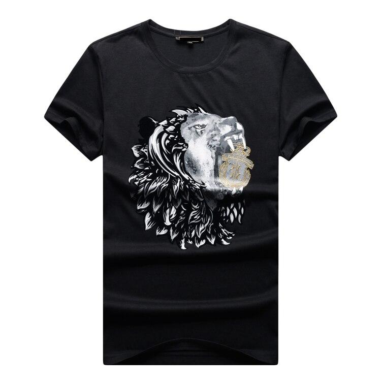 Tace & shark billionaire uomini della t shirt 2017 nuovo mercerizzato cotone di modo confortevole ricamato casual o collo spedizione gratuita-in Magliette da Abbigliamento da uomo su  Gruppo 1
